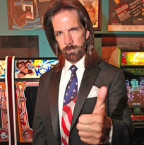 Billy Mitchell, arcade legend from The King of Kong, and iconized in popular fils Pixels and Wreck-It Ralph at the Rocky Mtn Pinball Showdown and Gameroom Expo